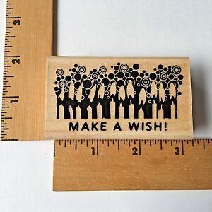 Inkadinkado Rubber Stamps - Make a Wish Candles - 99375LL -  NEW