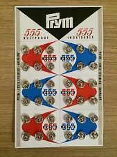 72 Pcs. (2 Set) Small Metal Snap Fasteners Press Button Stud Silver Size 8 mm.