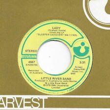 LITTLE RIVER BAND * 45 * Lady * 1978 * VG++ Vinyl Press *USA ORIGINAL on HARVEST