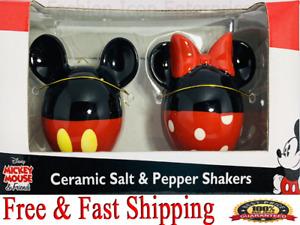 Disney Salt & Pepper Mickey Minnie body Salt & Pepper Shaker Set Original