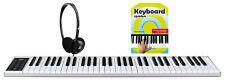 Akku Keyboard Digital 61 Tasten Piano USB MIDI Tasche Pedal Schule Kopfhörer