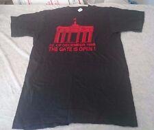 Vintage 1989 Black grunge German Reunification T-shirt punk Berlin wall Nwot