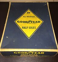 Vintage GOODYEAR HALF SOLES Advertising Box ONLY - Empty Goodyear Rubber Tire