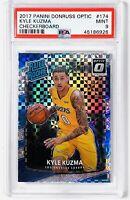 2017 Kyle Kuzma Optic #174 Checkerboard Holo SP PSA 9 MINT Lakers RC 🔥📈