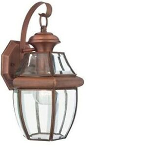 """Quoizel NY8315AC Newbury Outdoor Wall Sconcwe 1-Light  12"""" Aged Copper  (loc-20)"""