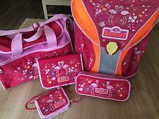 ❤️ Scout LED Limited Edition Flamingo 5tlg Schulranzen - Set ❤️