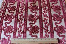 "French Antique 18thC Lyon Silk Cut Velvet Home Textile Fabric Sample~28""Lx22""W"