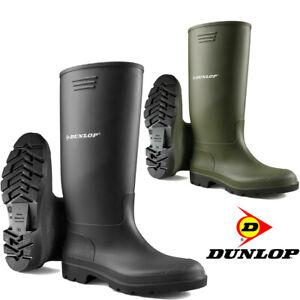 Womens Ladies Mens New DUNLOP Wellington Garden Work Waterproof Wellies Boots UK