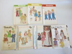 7 vintage 1/2 Toddler sewing patterns, Lot 2