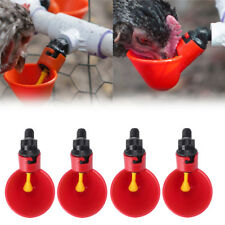4 Pack Poultry Water Drinking Cups-Chicken Hen Automatic Drinkers PVC Fittings