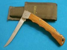 VINTAGE SCHRADE USA MA5TACKLE BOX FOLDING FISHING FILET KNIFE KNIVES SHEATH JACK
