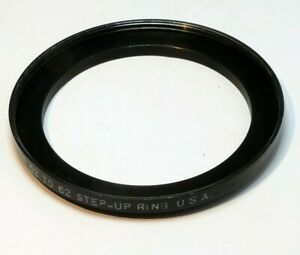 Tiffen 52mm to 62mm Step-up ring Metal adapter threaded for lens filter USA