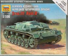 Zvezda 1/100 German Assault Gun StuG. III Ausf. B Z6155