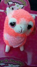 "5.75"" alpacas Plush HOT TOPIC New color candy orange single male alpaca !!!"