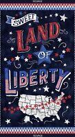 "23"" Fabric Panel - Timeless Treasures Sweet Land of Liberty USA Map Patriotic"