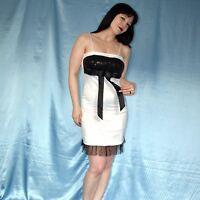 sexy weißes MINIKLEID* XS 34 stretchiges Partykleid mit Pailletten Cocktailkleid