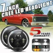 7inch DRL 180W CREE DOT LED Headlights For Chevy C10 K10 Pickup Camaro G10 G20