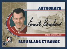 EMILE BOUCHARD 08-09 ITG BLEU BLANC ROUGE AUTOGRAPH FALL EXPO 2016 2008-09 20976