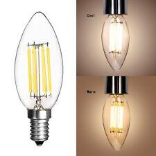 E14 2 / 4 / 6W Lustre en Filament Lampe à LED Lampe à Bougie Super Brillant