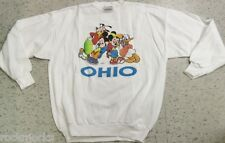 Vintage 90s Mickey Mouse Donald Pluto OHIO Sweatshirt Crew Neck NEW Sz XL Disney