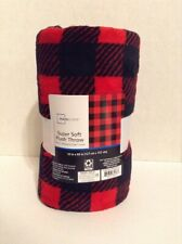Mainstays Red & Black Checkered Throw 50X60 Inches