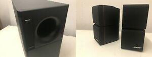 Bose acoustimass 5 series II Subwoofer mit 2 Double/Doppel Cube Redline