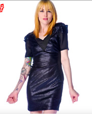 Lip Service DISCO KILLER DROWNING IN COCKTAILS DRESS Large Goth Sequin Backless