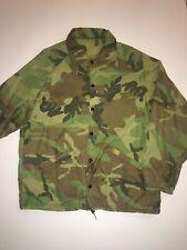 VTG Army Camouflage Military Windbreaker Jacket Woodland Large