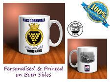 HMS CORNWALL Personalised Ceramic Mug Gift Royal Navy (MN013)
