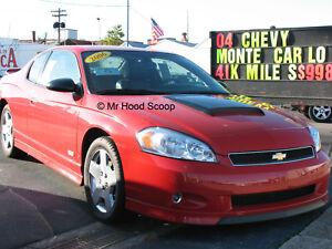 1995-2007 Hood Scoop for Chevy Monte Carlo By MrHoodScoop UNPAINTED HS009