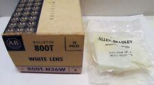 New Allen Bradley 800T-N26W Ser A Pilot Light White Lens 2 in Factory Sealed Bag