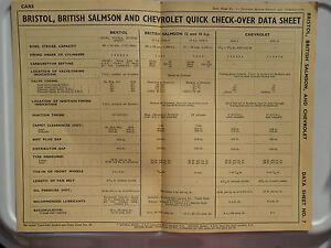 CHEVROLET FLEETMASTER AND 216 MODELS 1937 - 47 DATA CHART PUB RESTAURANT DISPLAY