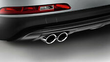 Original Audi Q3  Endrohrblenden Doppelendrohr silber verchromt 8U0071761