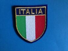 Italy Italia Shield Flag Iron On Jacket Biker Vest Backpack Travel Patch Crest C