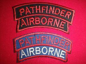 Lot Of 2 Vietnam War Patches US Army PATHFINDER AIRBORNE Arcs