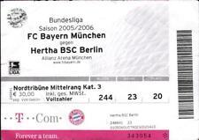 Ticket BL 2005/2006 FC Bayern München - Hertha BSC