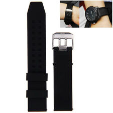 23mm Silicone Rubber Black Watch Band Strap Bracelet For Luminox Replacement &L