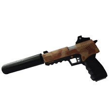 Whisper 45 Suppressed Pistol with moving silencer from Fortnite. Replica.