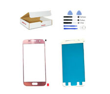 Pink Rose Gold Front Glass Lens Adhesive Tools Replacement Fit Galaxy S7 G930