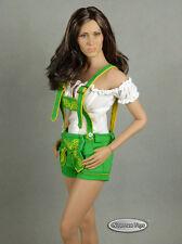 1/6 Scale Phicen, FG - Female White Blouse & Green Shorts Lederhosen Uniform Set