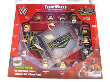 WWE TEENYMATES HALL OF FAME COLLECTOR SET 12 FAMERS & PUZZLE EXCLUSIVE HOF NEW