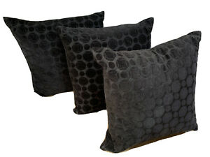 """3 PACK - HOTEL COLLECTION Marble Geo 20"""" Square Decorative Pillow - Black"""