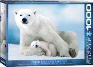 Polar Bear and Baby 1000 piece jigsaw puzzle 680mm x 480mm (pz)