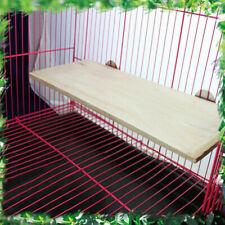 Wooden Hamster Squirrel Parrot Bird Perch Stand Platform Hanging Pet DE Toy W1L4