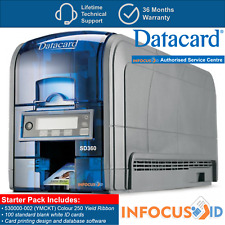 Datacard SD360 Plastic ID Card/Badge Printer With Starter Pack, Support & VAT