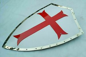 Medieval Knight Templar Red Cross Shield 30 Inches Heater Shield
