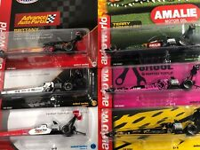 NHRA Top Fuel Dragster 1:64 diecast models by Auto World 6 different drivers