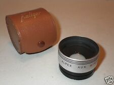 Vintage Alpex Aux/Auxiliary Wide-Angle Series VI Lens with Leather Case