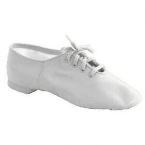 Capezio CG02 White Adult 5.5M (fits size 5) Split Sole Jazz Shoe