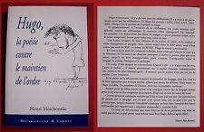 Hugo, la poésie contre le maintien de l'ordre - Henri Meschonnic